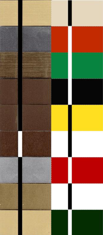 Przykłady kolorów laminatu grawerskiego