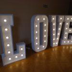 LOVE – litery przestrzenne