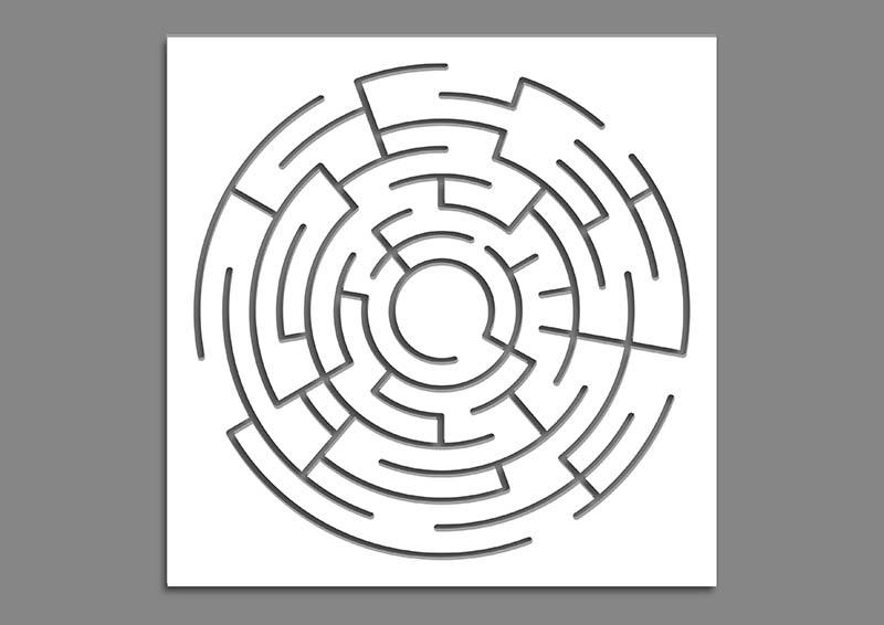 wzór labirynt